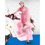 PVC - Poncho für Motorrad Mofa Motorroller Fahrrad KY0013pink Pink transparent weiße Punkte