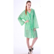 Plastik - Jacke Regenjacke junge Damen modern grün gemustert WYQ-R009green2
