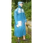Plastik - Mantel Multifunktions-Regenmantel BLUE EYED GENIUS Blau
