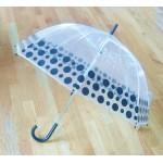 PM PVC - Regenschirm PM1016 Schwarz gepunktet glasklar EDGE-UMBRELLA LAGERWARE