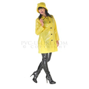PUL PVC - Mantel Regenmantel 60er-Style RA28 LADIES SIXTIES RAINCOAT - Alle Größen & Farben