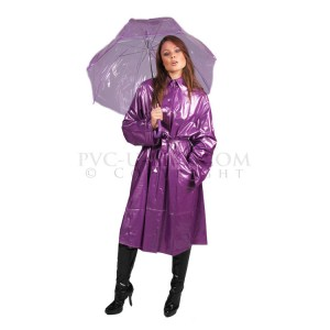 PUL PVC - Plastik Mantel Regenmantel RA33 FASHION MAC - ALLE FARBEN & GRÖSSEN